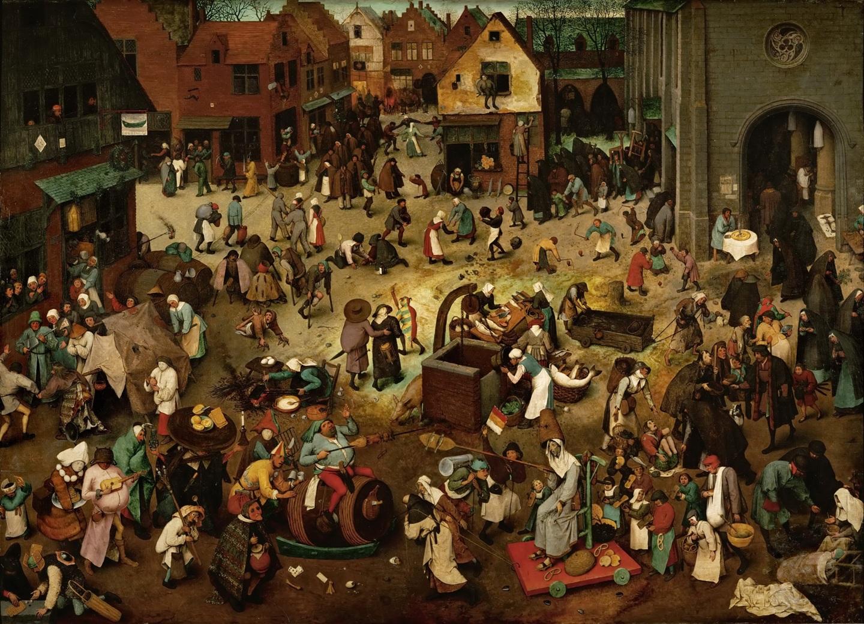 Питер Брейгель старший. Битва Масленицы и поста. 1559г.