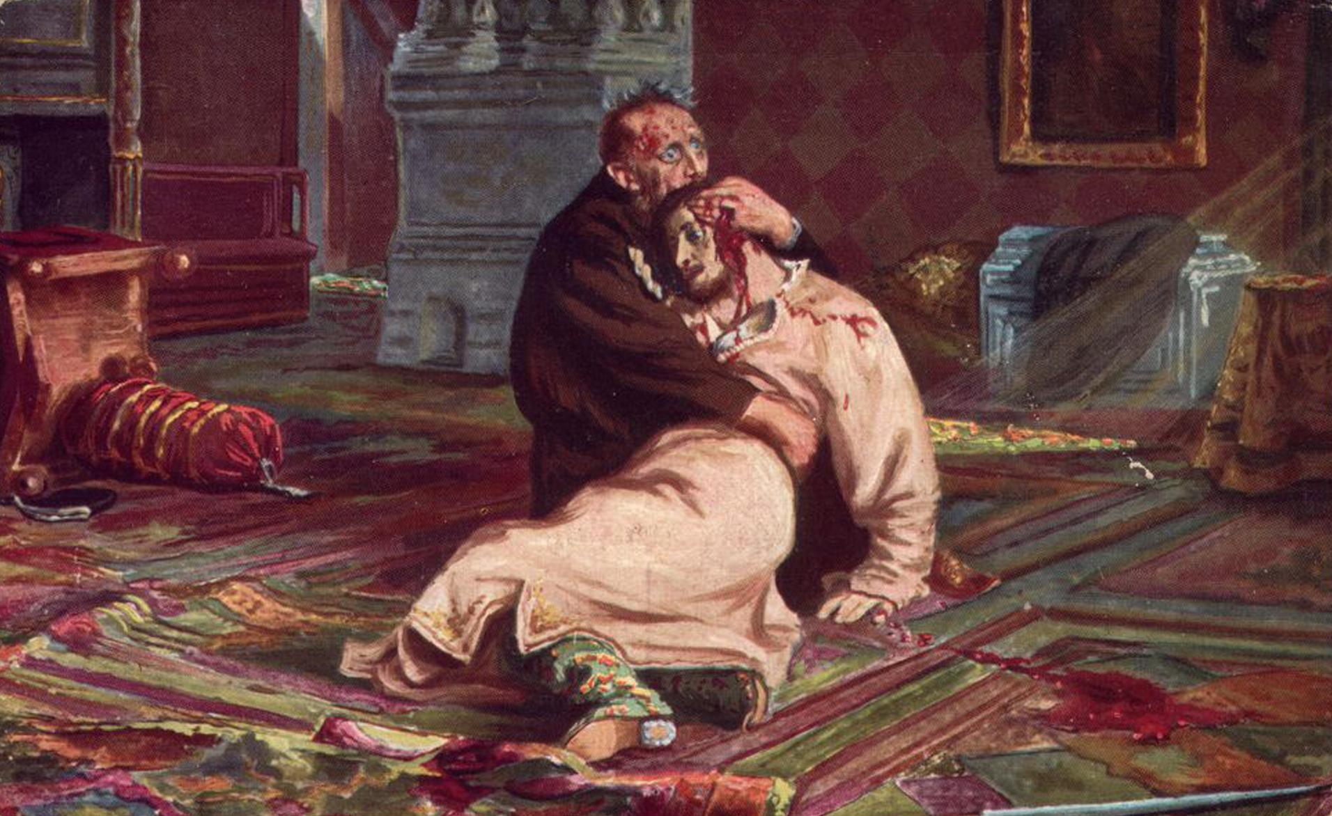 """Картинки Картинки: """"Иван Грозный убивает своего сына"""" картина Репина"""