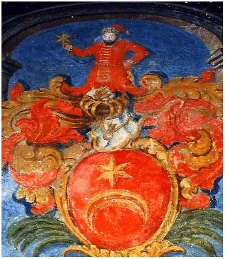 Фреска из средневекового замка в Швейцарии.
