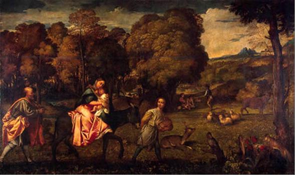 Бегство в Египет, Тициан 1508 г.