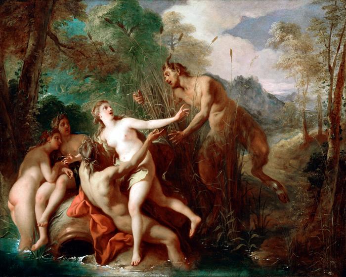 Пан и Сиринга. 1679. Париж Жан Франсуа де Труа.