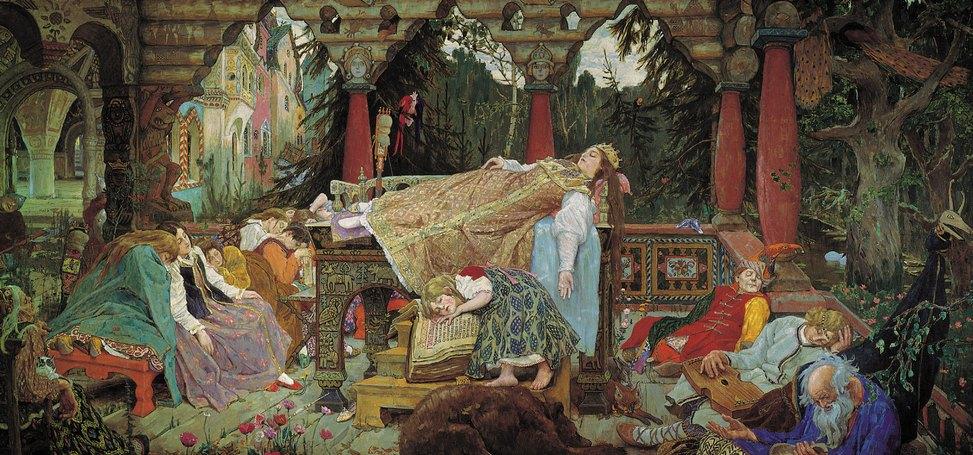 Спящая царевна. Холст. Масло. В.М.Васнецов. 1926г.