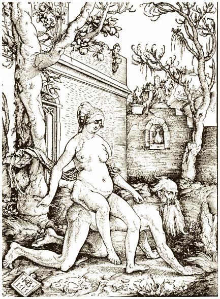 Гравюра немецкого художника Иоганса Бальдунга Грина. Якобы 1515г.
