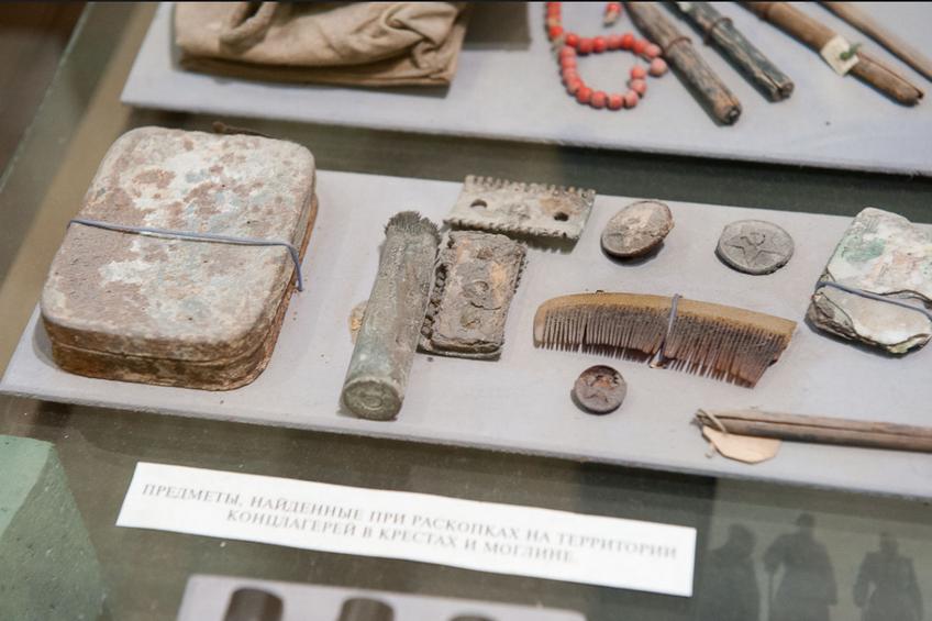 Экспозиция предметов, относящихся к Великой отечественной войне.