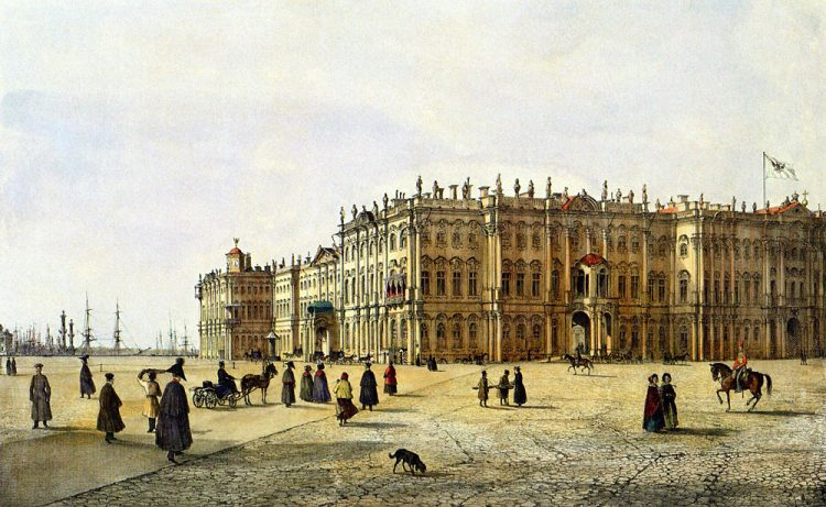 Вид Зимнего дворца с юго-запада