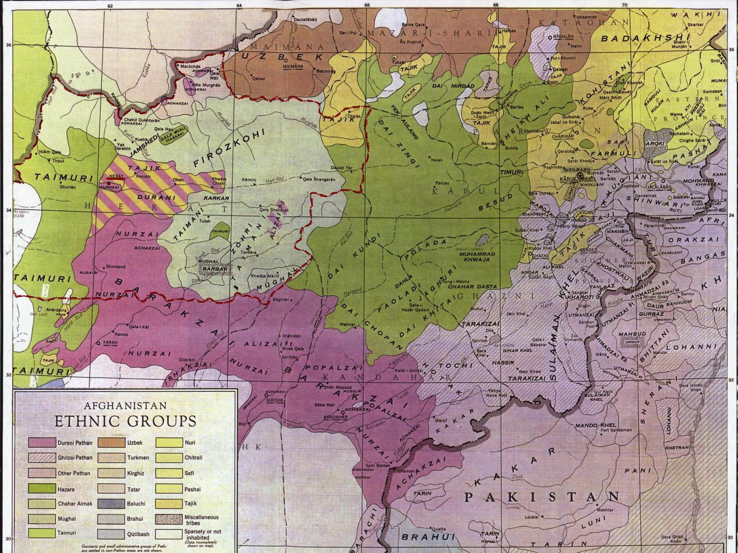 Племена Афганистана
