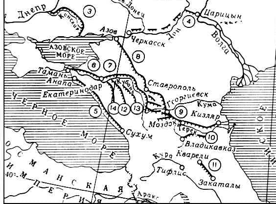 кавказские линии