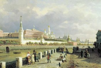 В. Верещагин. Московский Кремль с Большого каменного моста 1872г.