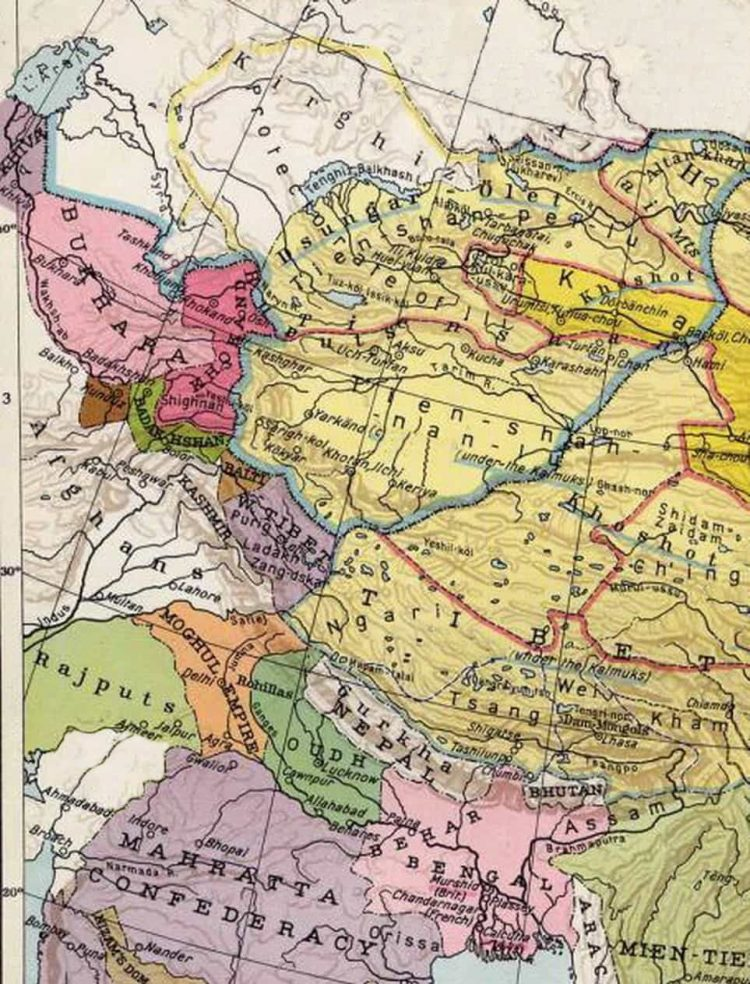 Chagatai Khanate at 1860
