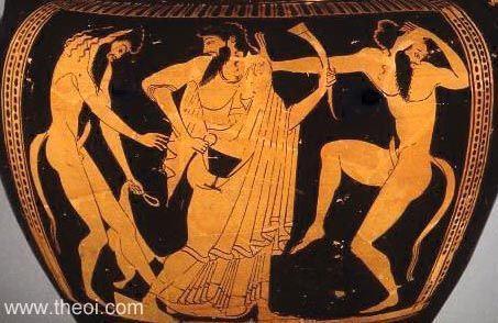 Сатиры, Дионис