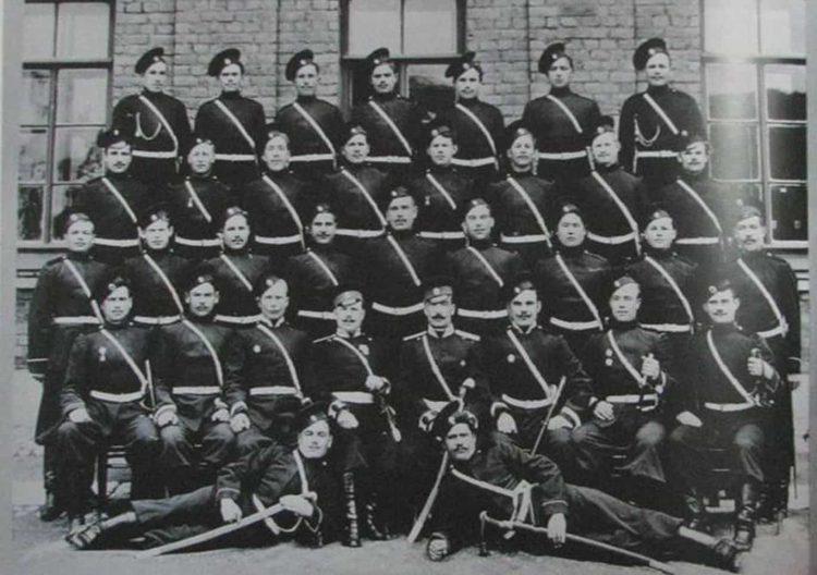Астраханский взвод Лейб-Гвардии казачьего полка 1910 г.