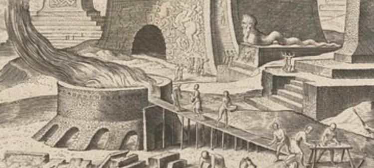 Строительство пирамиды. Филипп Галле 1572г.