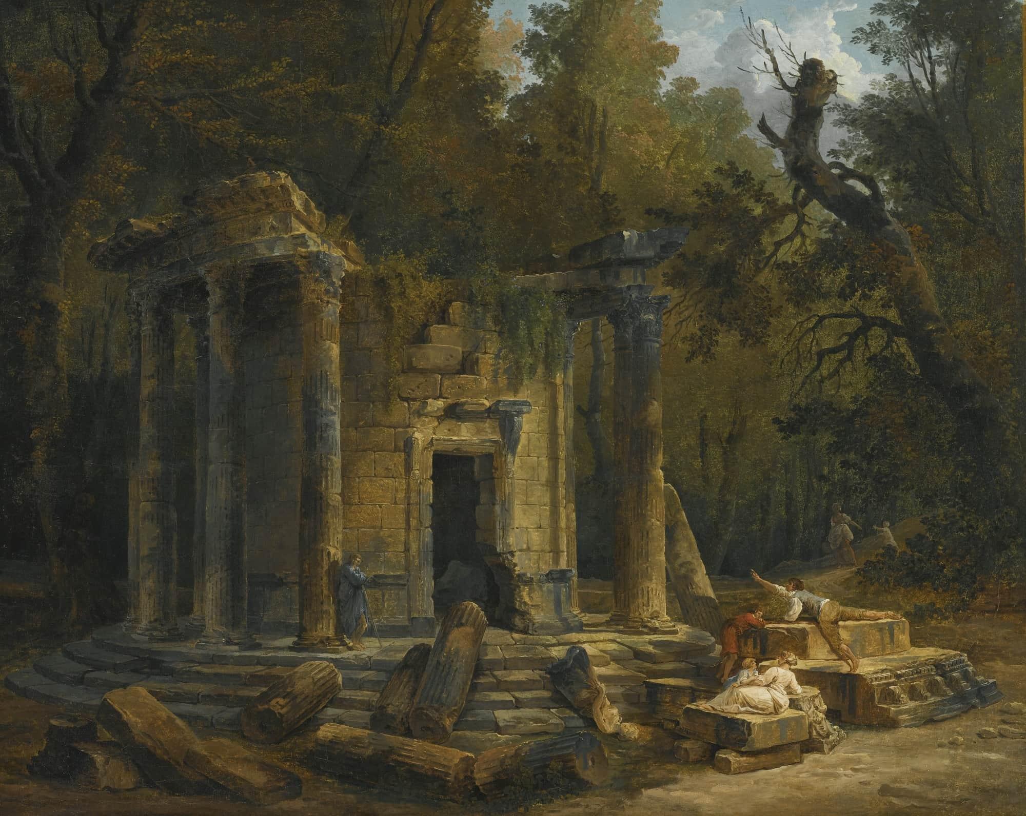 Картина конца восемнадцатого века кисти Юбера Робера.