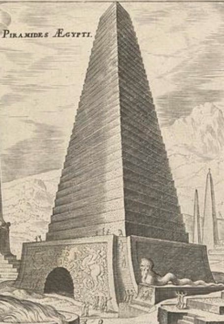 Ступенчатая пирамида в Египте.