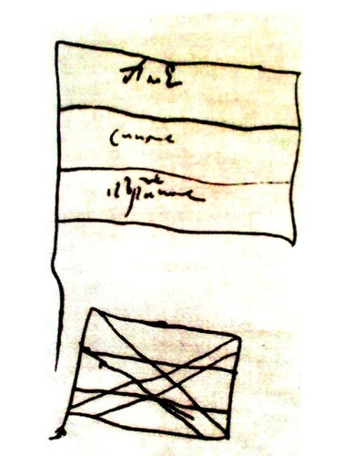 Проекты военно-морских флагов, сделанные лично Петром I