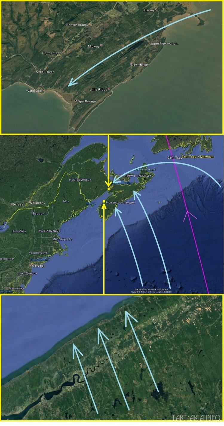 Карта. Сдвиг полюсов. Остров Новая Шотландия общий вид 5