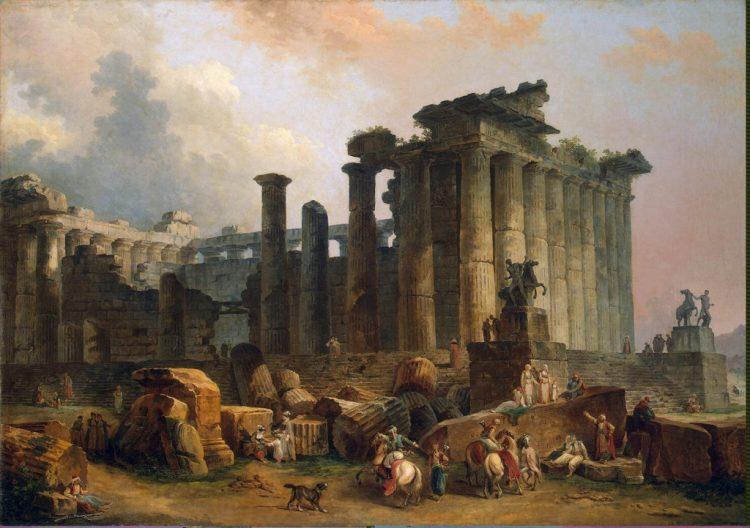 Руины дорического храма. Робер Юбер. 1787г.