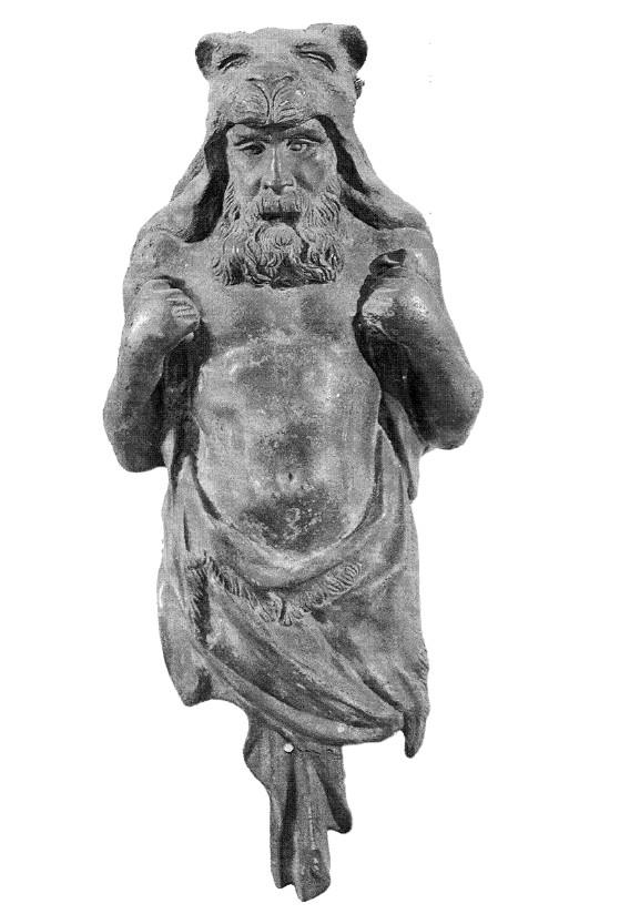 Бронзовая статуэтка Геракла. Найдена на реке Катунь в конце 50-годов ХХв.