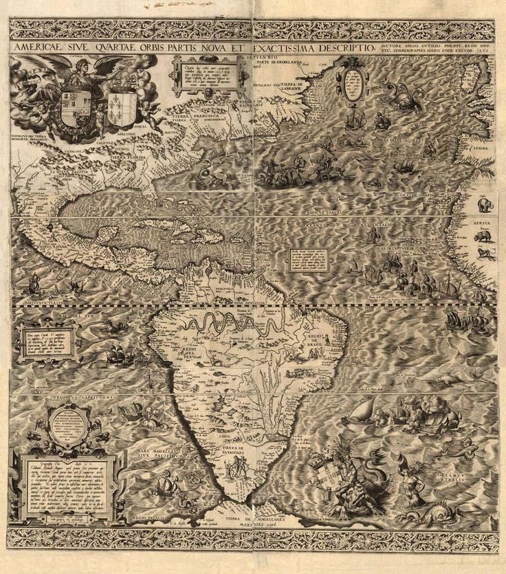 Сдвиг полюсов. Старинные карты. карта Америк