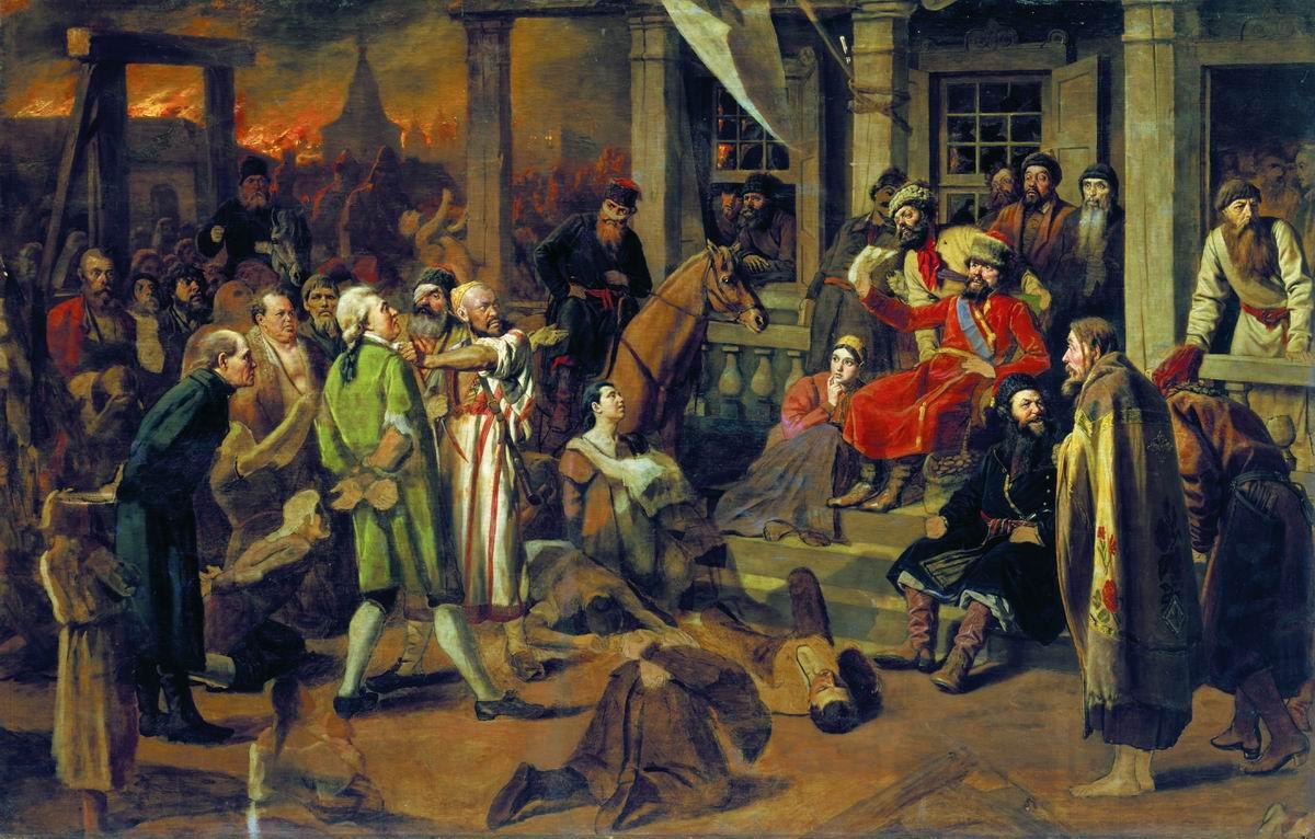 Pugačov soudí zajaté šlechtice