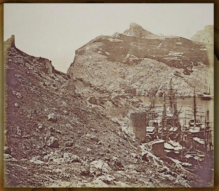 Балаклава, фото Крымской войны, развалины крепости Чембало
