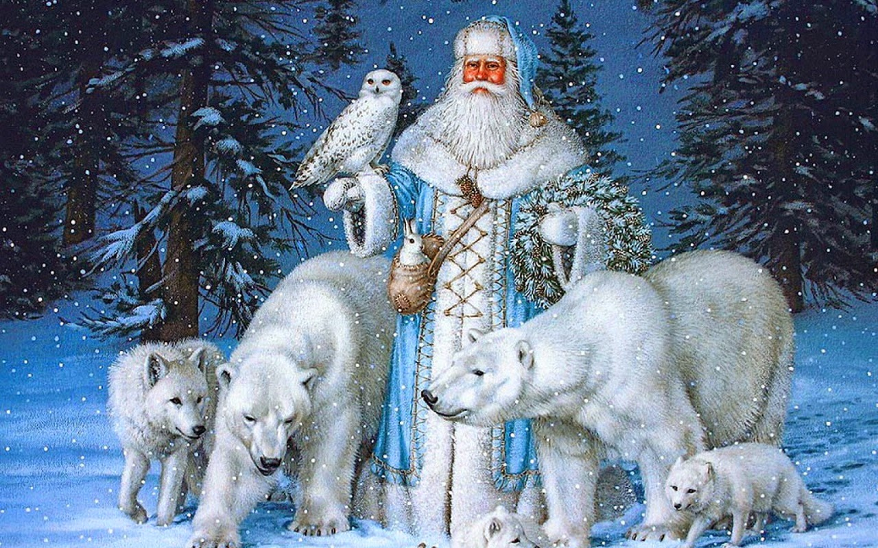 Картинки дед мороз зимняя сказка