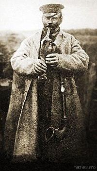 Дударь с дудой (волынкой). Брест-Литовск, конец XIXв.