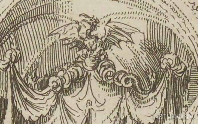 Трон Великих Ханов в Кара-Куруме. Фрагмент средневековой гравюры