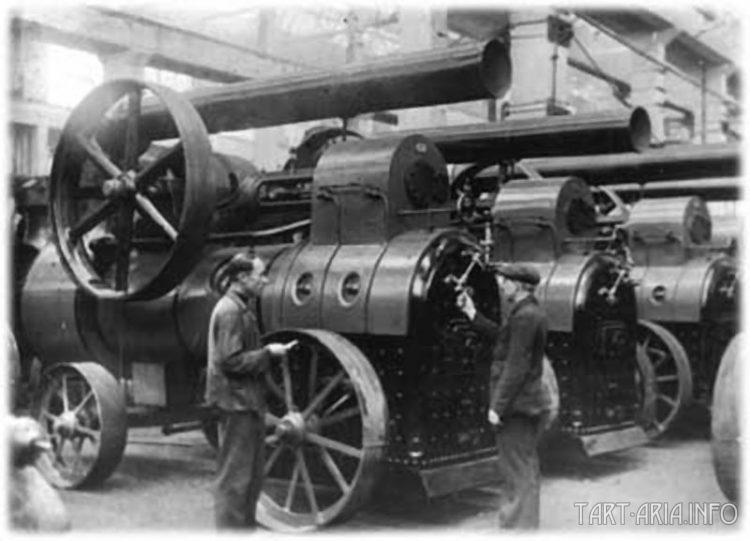Серийная сборка локомобилей в Воткинске, фото 1940-х годов.