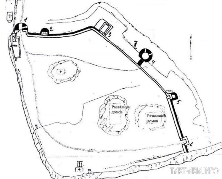 План крепости Каламита. (Архив НЗХТ.Д 26900). Масштаб 1:250.