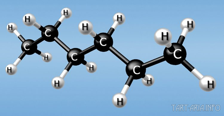 модель молекулы гексана