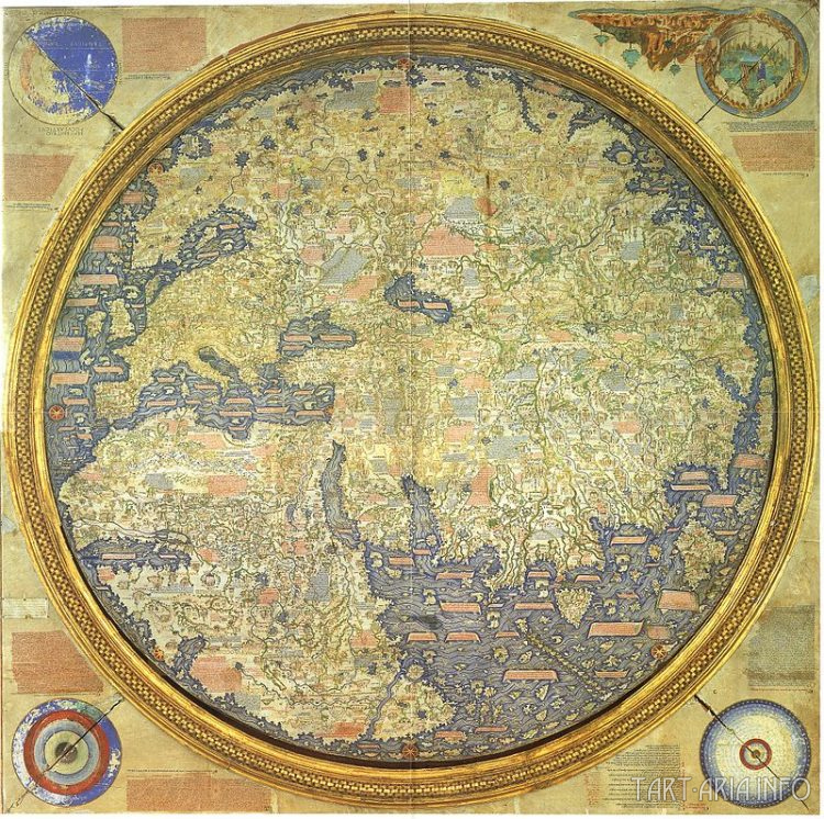 Фрау Муро атлас мира 1450г.