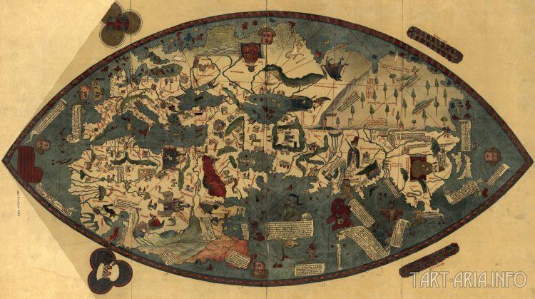 Карта Земли. 1475 г. Паоло Тосканелли
