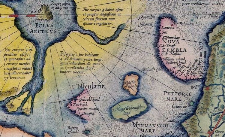 A piece of Mercator's map.