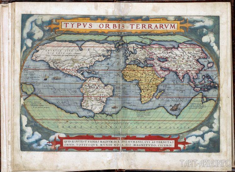 Theatrum Orbis Terrarum, Abraham Ortelius, 1571 Источник