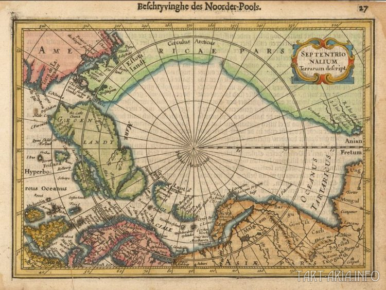 Septentrionalium Terrarum descript, 1628 Источник