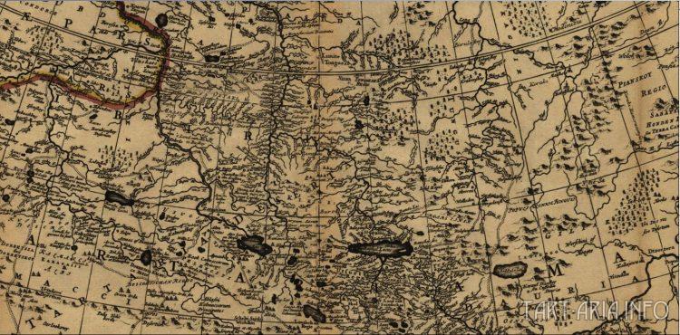 Рис. 25. Фрагмент 1 карты Тартарии, 1705 г.