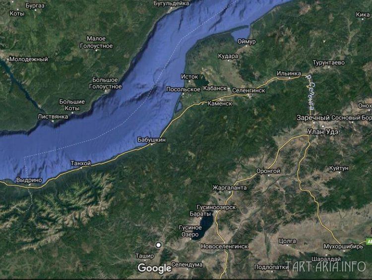 Рис. 29. Русло реки Селенги.