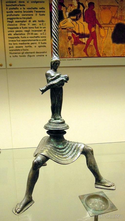 Уникальная бронзовая тренога. Этрусский музей в Тарквинии. Источник