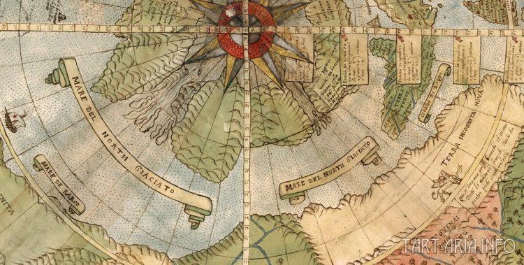 Фрагмент планисферы Урбано Монте, 1587г.