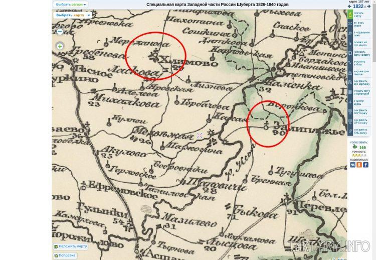 Старые карты. 1832 год