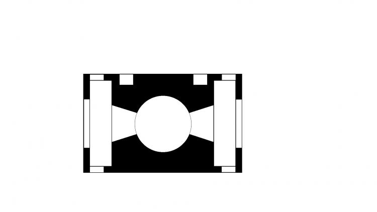 Схема доменной печи, вид сверху