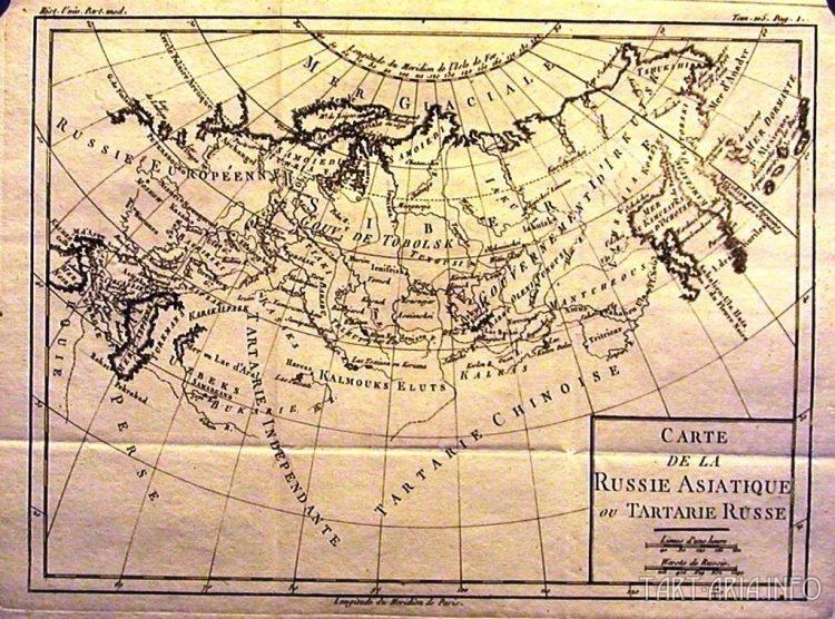 Carte de la Russie Asiatique ou Tartarie Russe, Louis Brion de la Tour, 1787г. Источник
