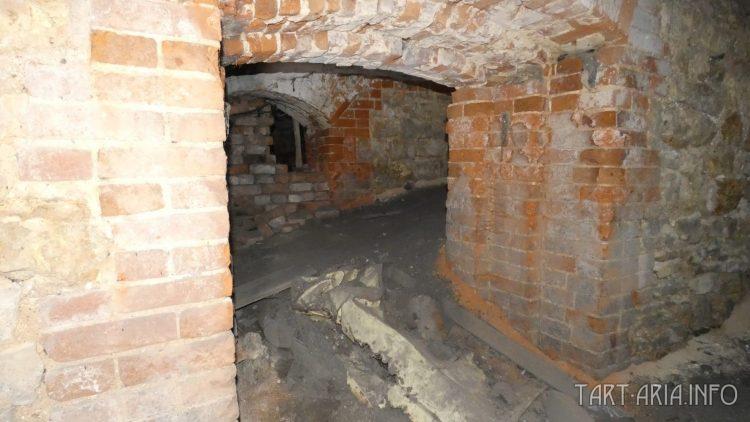 Слой грязи в подвале. Вид из комнаты