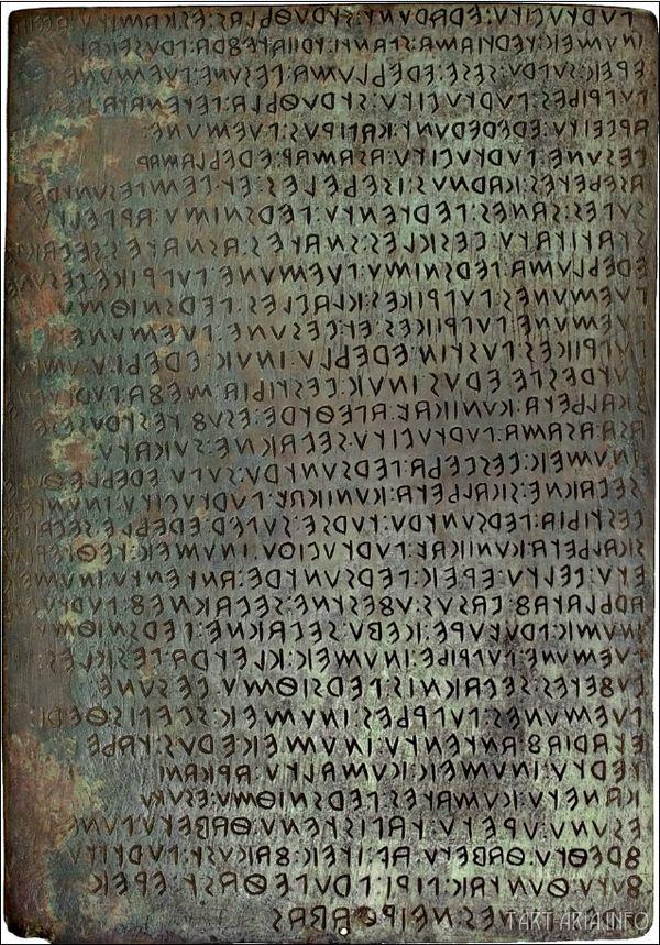 Игувинская таблица Источник