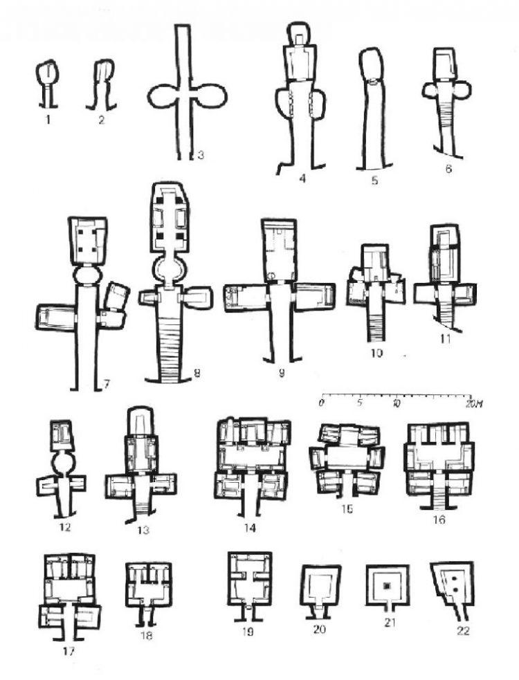 Планы некоторых гробниц в Черветери. Источник тот же