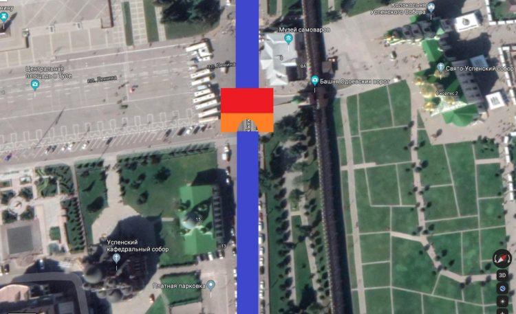 Тула. Площадь Ленина. Подземный каменный арочный мост