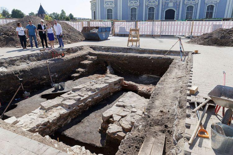 Раскопки в Тульском кремле. Сентябрь 2019 года