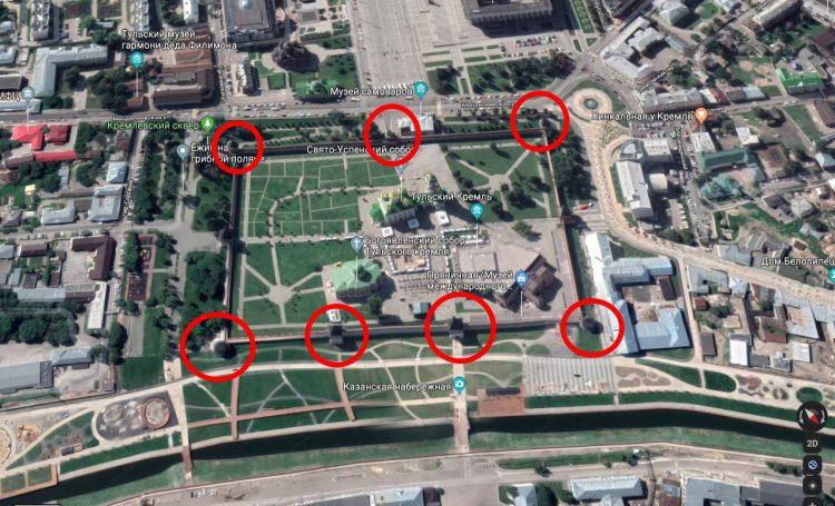 Башни Тульского кремля. Вид с севера