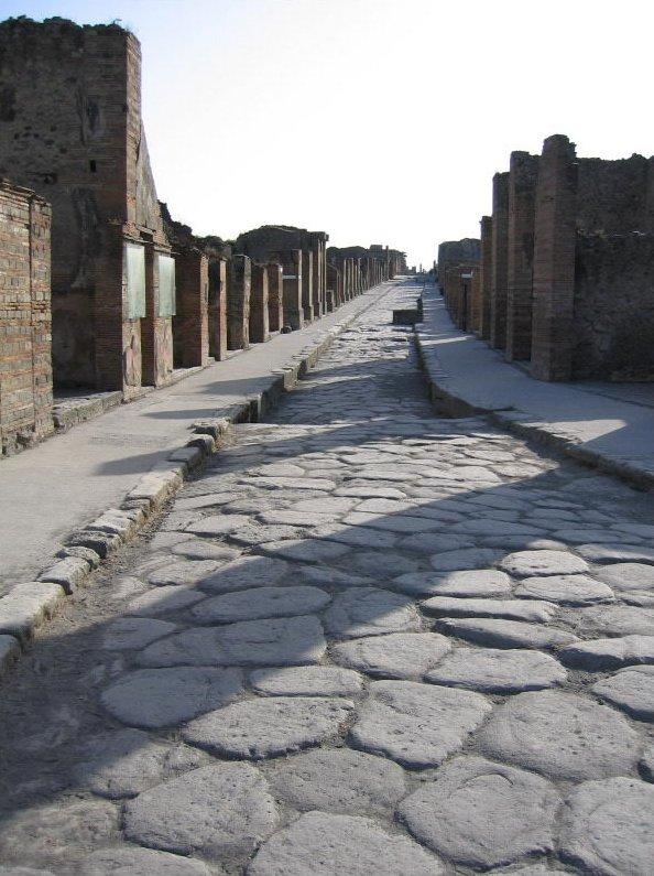 Римская дорога в Помпеях. Источник